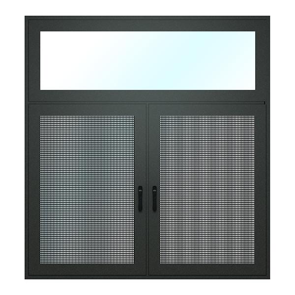 巴黎142X系列断桥窄边框窗纱一体外开窗
